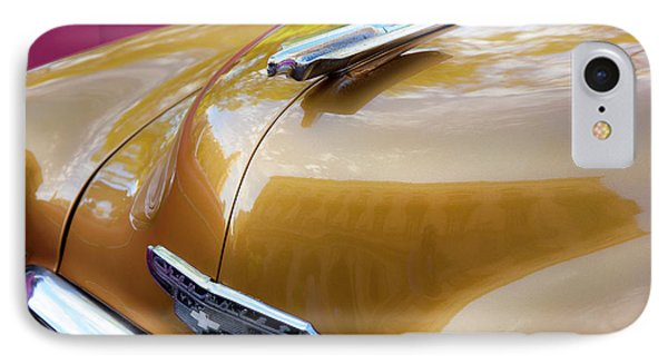 IPhone Case featuring the photograph Vintage Chevy Hood Ornament Havana Cuba by Charles Harden