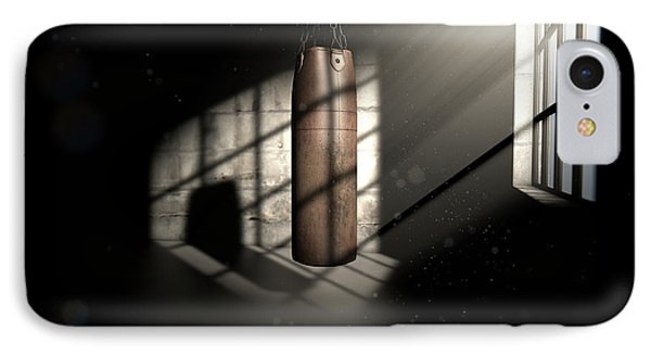 Vintage Leather Punching Bag IPhone Case by Allan Swart