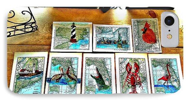 Vintage Map Art IPhone Case by Scott D Van Osdol
