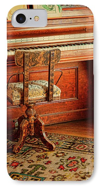 IPhone Case featuring the photograph Vintage Piano by Jill Battaglia