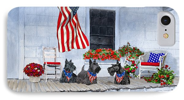Waiting For The Big Parade IPhone Case by Ann Kallal