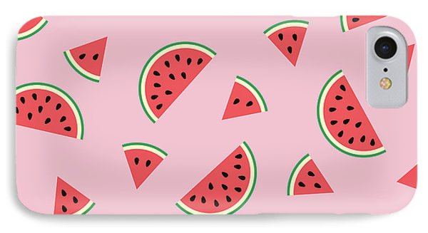 Watermelon Pattern IPhone Case by Alina Krysko