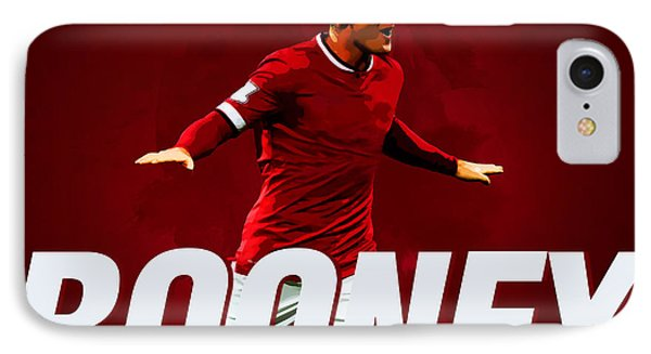 Wayne Rooney IPhone Case by Semih Yurdabak