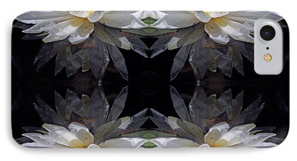 White Lotus Mandala IPhone Case by Daniel Unfried