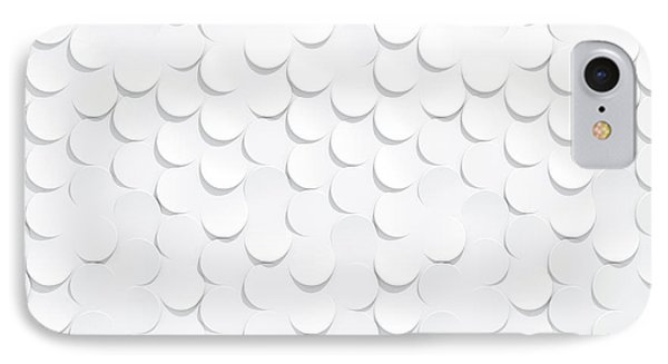 White On White Scale Peels IPhone Case