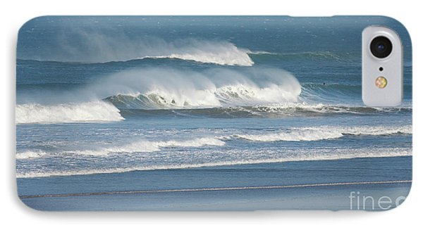 IPhone Case featuring the photograph Windy Seas In Cornwall by Nicholas Burningham