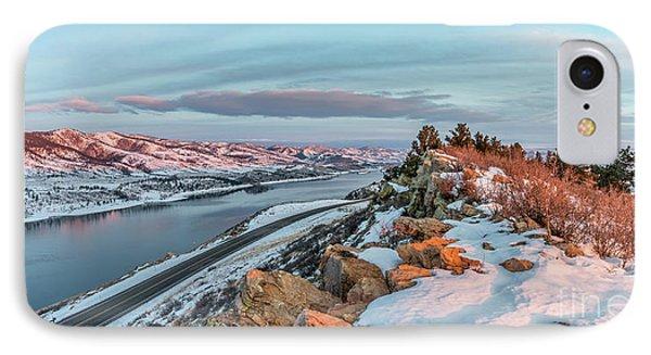 winter sunrise over Horsetooth Reservoir IPhone Case