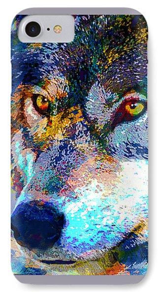 Wolf Phone Case by Elena Kosvincheva