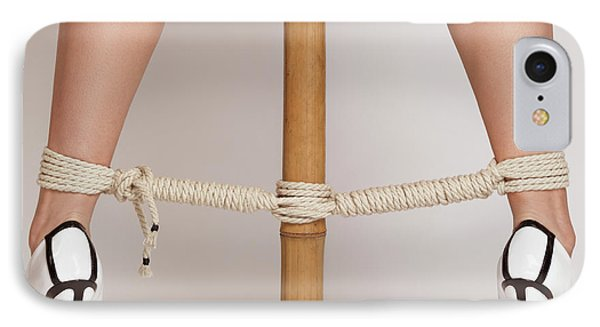 Woman Legs Tied With Ropes To Bamboo IPhone Case