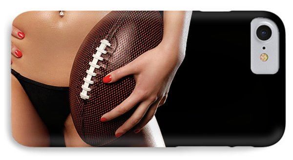 Woman With A Football IPhone Case