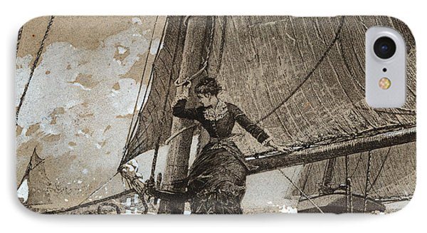 Yachting Girl IPhone Case by Winslow Homer