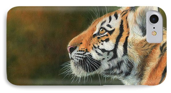 Young Amur Tiger  IPhone Case by David Stribbling