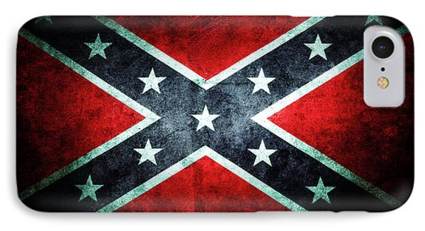 IPhone Case featuring the photograph Confederate Flag by Les Cunliffe