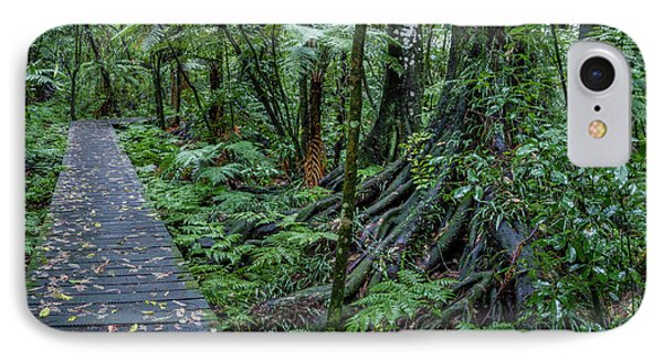 IPhone Case featuring the photograph Forest Boardwalk by Les Cunliffe