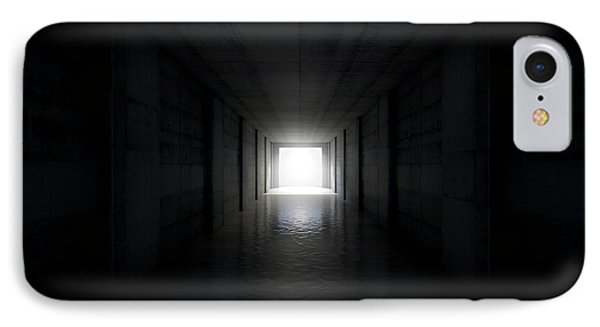 Sports Stadium Tunnel IPhone Case by Allan Swart