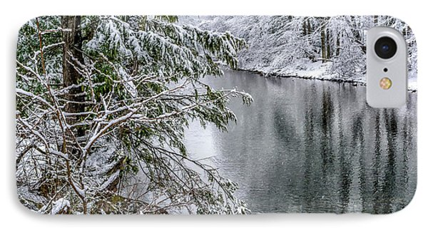 IPhone Case featuring the photograph Winter Along Cranberry River by Thomas R Fletcher