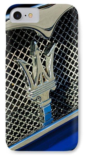 2002 Maserati Combiocorsa Spyder Hood Ornament Phone Case by Jill Reger