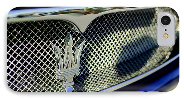 2002 Maserati Hood Ornament Phone Case by Jill Reger