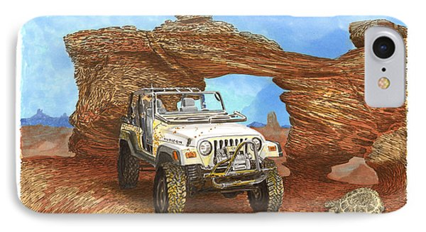 2005 Jeep Rubicon 4 Wheeler IPhone Case by Jack Pumphrey