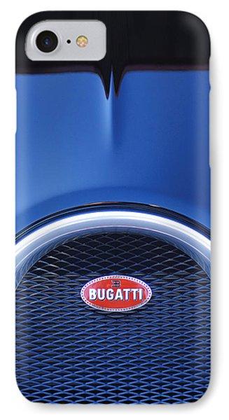 2008 Bugatti Veyron Hood Ornament IPhone Case by Jill Reger