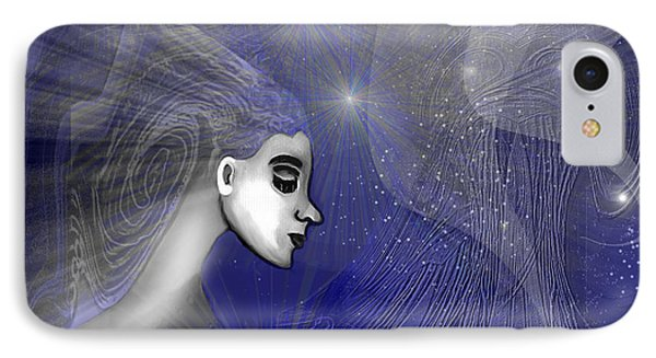 201 -   Traveling  Through   Veils Of Universe IPhone Case by Irmgard Schoendorf Welch