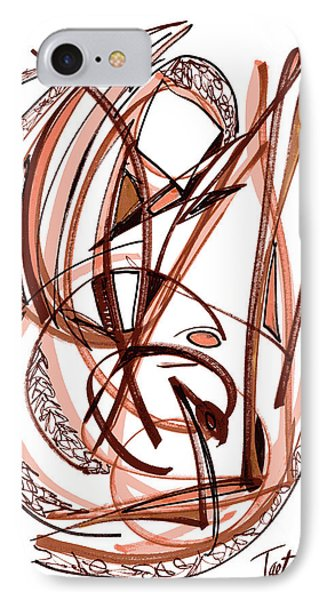 2010 Abstract Drawing Five IPhone Case by Lynne Taetzsch