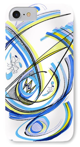 2010 Drawing One IPhone Case by Lynne Taetzsch