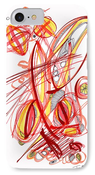 2010 Drawing Two IPhone Case by Lynne Taetzsch