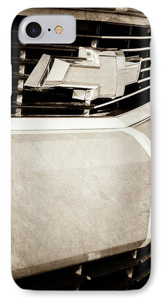 IPhone Case featuring the photograph 2011 Chevrolet Camaro Grille Emblem -0321s by Jill Reger