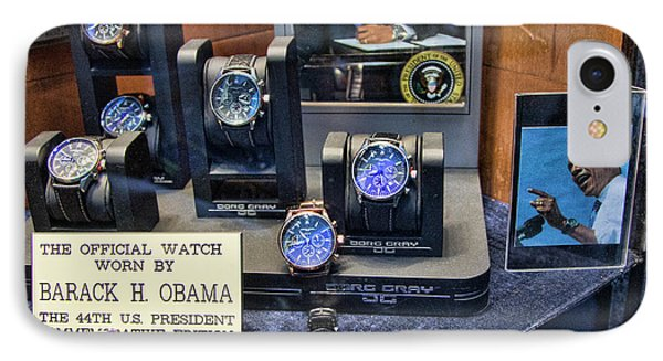 2011  Obama Jewelry Watch IPhone Case by Chuck Kuhn