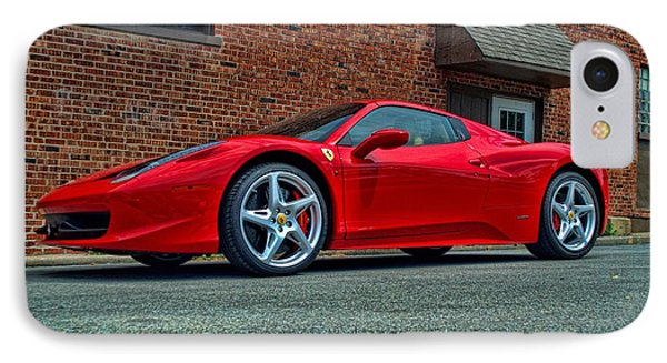 IPhone Case featuring the photograph 2012 Ferrari 458 Spider by Tim McCullough