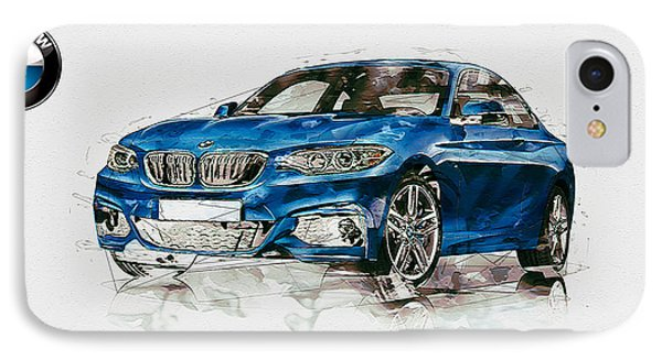 2014 B M W 2 Series Coupe With 3d Badge IPhone Case by Serge Averbukh