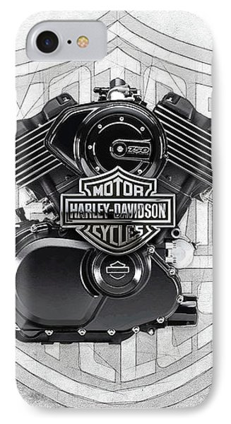 IPhone Case featuring the digital art 2015 Harley-davidson Street-xg750 Engine With 3d Badge  by Serge Averbukh
