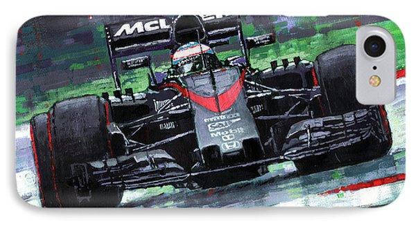 2015 Mclaren Honda F1 Austrian Gp Alonso  IPhone Case by Yuriy Shevchuk