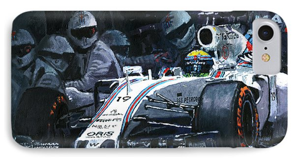 2015 Williams Fw37 F1 Pit Stop Spain Gp Massa  IPhone 7 Case by Yuriy Shevchuk