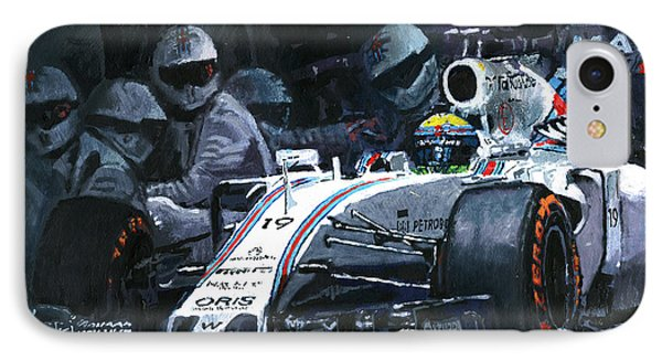 2015 Williams Fw37 F1 Pit Stop Spain Gp Massa  IPhone Case by Yuriy Shevchuk