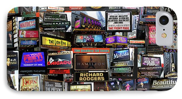IPhone Case featuring the photograph 2016 Broadway Fall Collage by Steven Spak