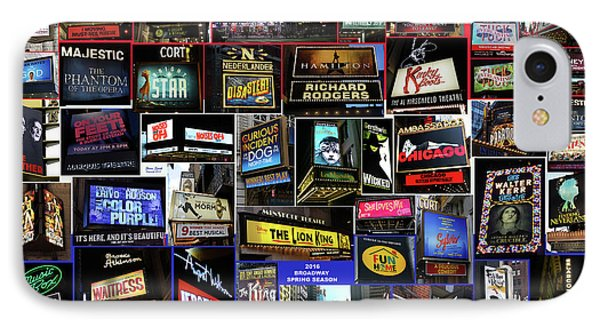 2016 Broadway Spring Collage IPhone Case by Steven Spak