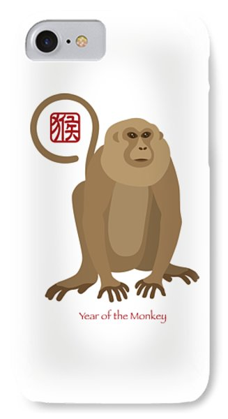 2016 Chinese New Year Of The Monkey IPhone Case by Jit Lim