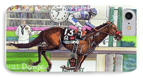 2016 Kentucky Derby Winner Nyquist IPhone Case by Dave Olsen