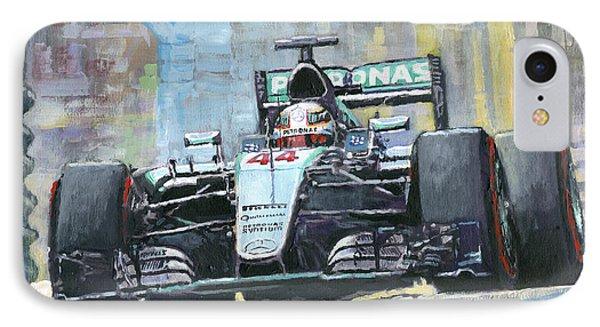 2016 Monaco Gp Mercedes Amg Petronas Hamilton  IPhone Case by Yuriy Shevchuk