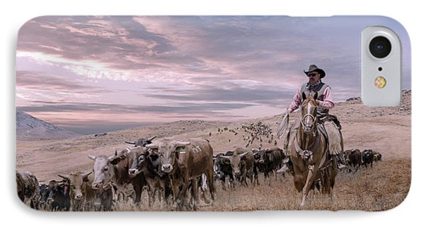 2016 Reno Cattle Drive IPhone Case by Rick Mosher