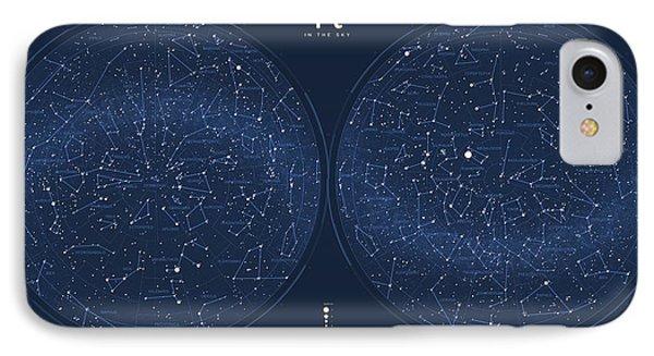 2017 Pi Day Star Chart Azimuthal Projection Phone Case by Martin Krzywinski