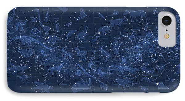 2017 Pi Day Star Chart Carree Projection Phone Case by Martin Krzywinski