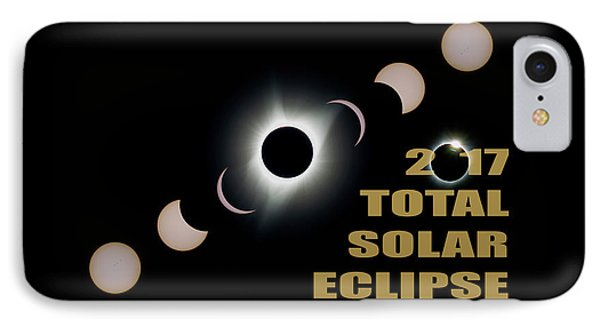2017 Total Solar Eclipse Phases Phone Case by David Gn