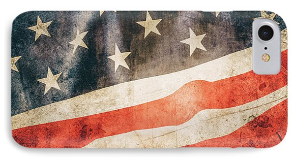 IPhone Case featuring the photograph American Flag by Les Cunliffe