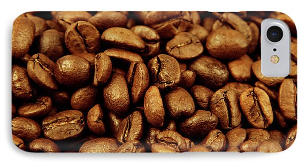 IPhone Case featuring the photograph Coffee Beans by Les Cunliffe