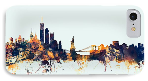 New York Skyline IPhone Case by Michael Tompsett
