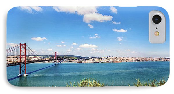 IPhone Case featuring the photograph 25th April Bridge Lisbon by Marion McCristall