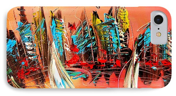 City IPhone Case by Mark Kazav